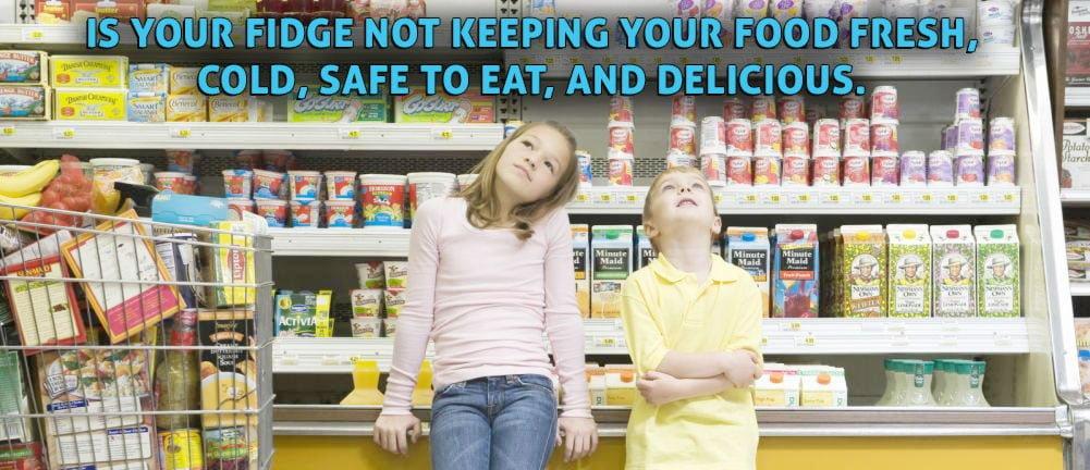 Kids want their fridge repaired.
