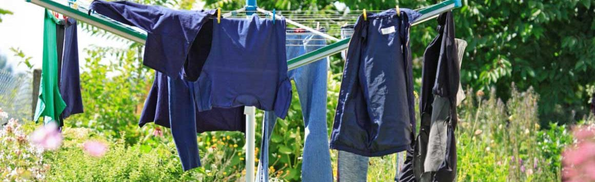 Smelly clothes on clothesline