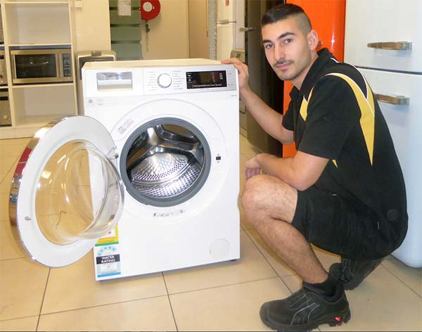 Prestige technician with washing machine