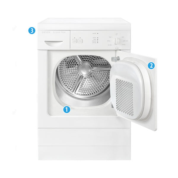 Dryer Model Number Locations