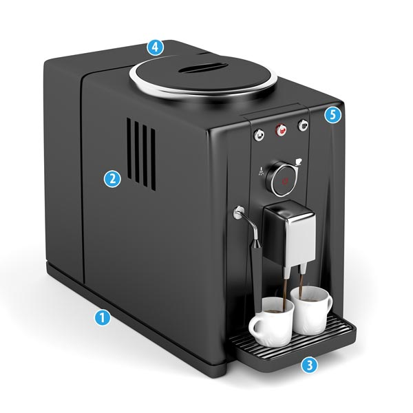 Coffee Machine Model Number Locations