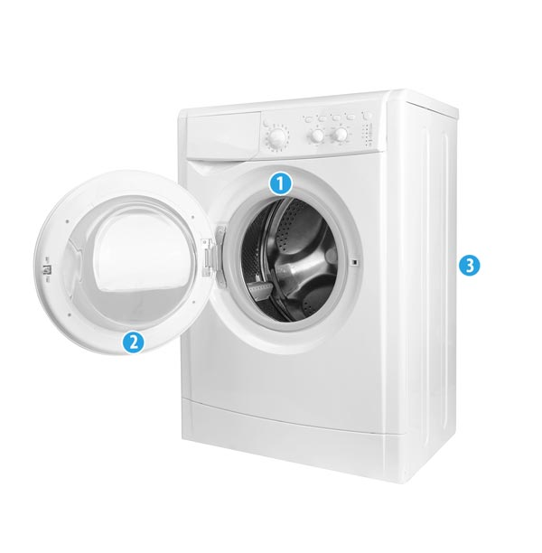 FronLoader Washing Machine Model Number Locations